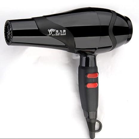 K-youth® Secador De Pelo Profesional 2200W Negro Ventilador De Calor Secadora SalóN De