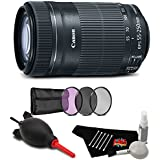 Canon EF-S 55-250mm f/4-5.6 IS STM Lens Accessory Bundle International Model