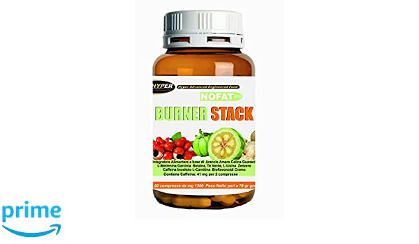 Termogénico Brucia Grassi Forte | Burner stack 60 tabletas | quemar grasa potente y rápido | poderosa pérdida de peso | 14 ingredientes activos contra la ...