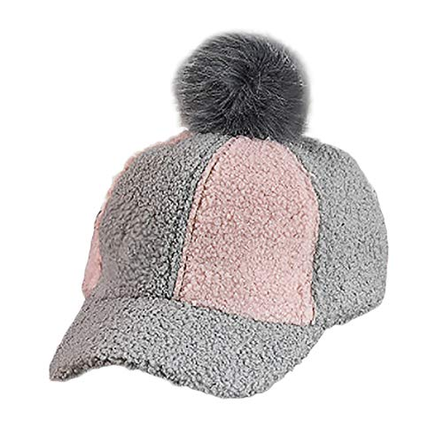 Tronet Kids Boys Girls Winter Splicing Pompoms Hat Infant Toddler Baseball Cap ()
