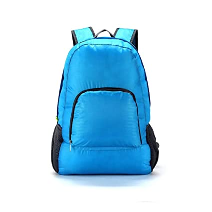 ZHUOTOP Outdoor Waterproof Foldable Backpack Unisex Sports Hiking Bag  Camping Rucksack Schoolbag Blue a2b94c17c43be