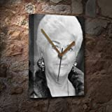 PAM ST. CLEMENT - Canvas Clock (A5 - Signed by the Artist) #js001