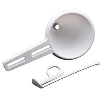 Kitchen DIY - Dispensador de embudo de plástico para repostería de chocolate, color blanco: Amazon.es: Hogar
