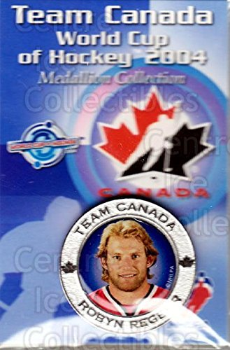 - (CI) Robyn Regehr Hockey Card 2004 Team Canada World Cup Medallion 10 Robyn Regehr