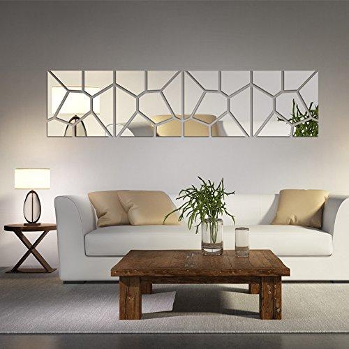 pegatinas de pared de decoración para el hogar que viven patrón de la moda moderna acrílico espejo grande grande etiqueta...
