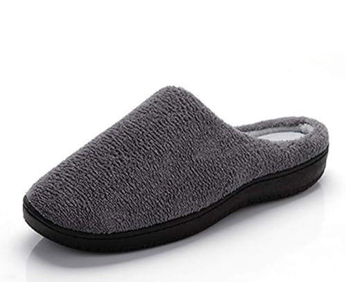 Zapatillas de Invierno cálidas Unisex, Zapatillas Antideslizantes cómodas de Terciopelo de Coral para Interiores de la casa: Amazon.es: Zapatos y ...