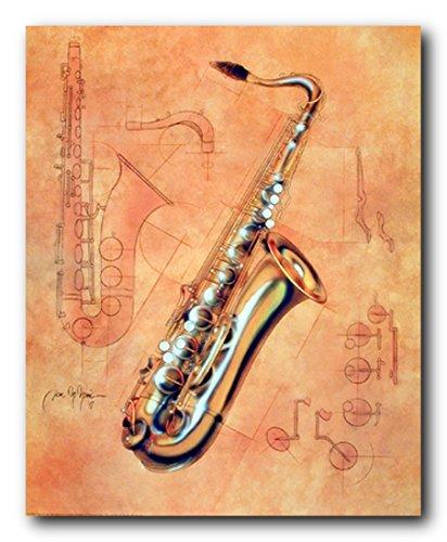 Music Instrument Wall Decor Fine Arts Saxophone Kids Room Art Print Poster (16x20)