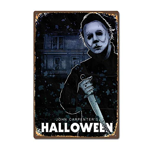 TGDB Michael Myers Halloween Horror Film Movie Vintage Retro Tin Sign Size 8x12 inch]()