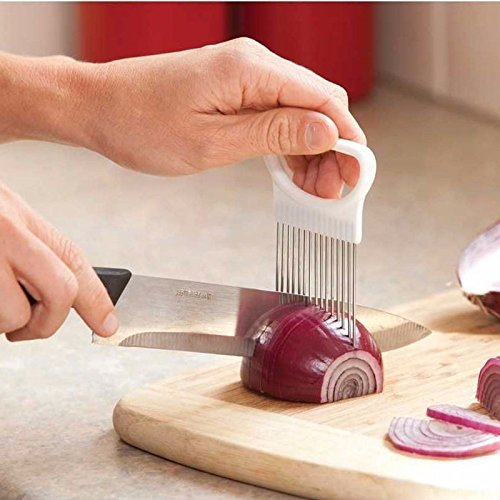 Vegetable Slicer Onion Slicer Onion Holder Tomato Slicer 1PC Onion Tomato Cutting Aid Guide Holder Slicing Cutter Gadget Onion Slicer Onion Ring Slicer Blooming Onion Slicer by Generic