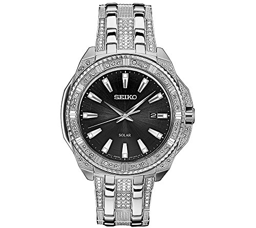 Seiko-Mens-Solar-Silvertone-Crystal-Watch