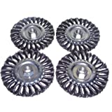 Canadian Tool and Supply (4-pack) 5-Inch Knot Wire Wheel Brush 5/8-11nc (4xKWWB-5N58)