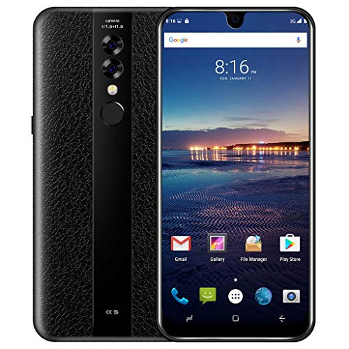 Android Smartphone 32GB, NDGDA Quad Core 6.2 inch Dual Camera Smartphone Android 7.0 Touch Screen WIFI Bluetooth GPS 3G Call Mobile Phone (Black)