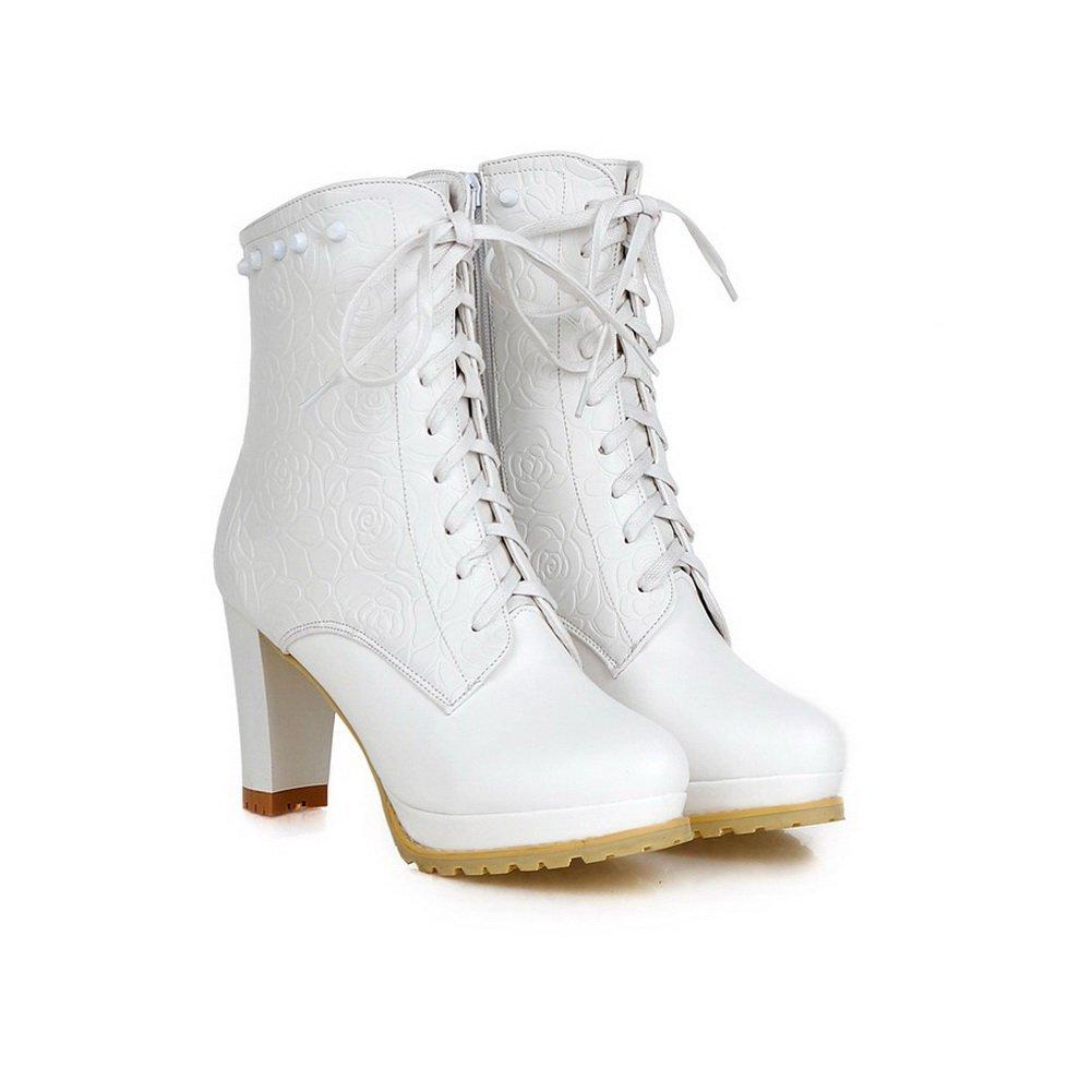 AdeeSu B077VH4GMS Womens Casual Round-Toe Slip-Resistant Rhinestones Urethane Boots SXC01796 B077VH4GMS AdeeSu Platform 2fcd03