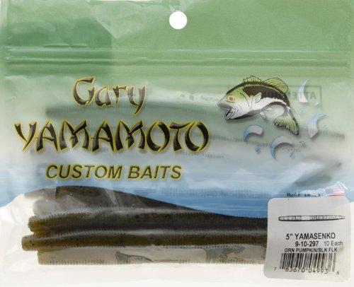 yamamoto-9-10-297-senko-5-inch-10-pack-green-pum-packin-w-black