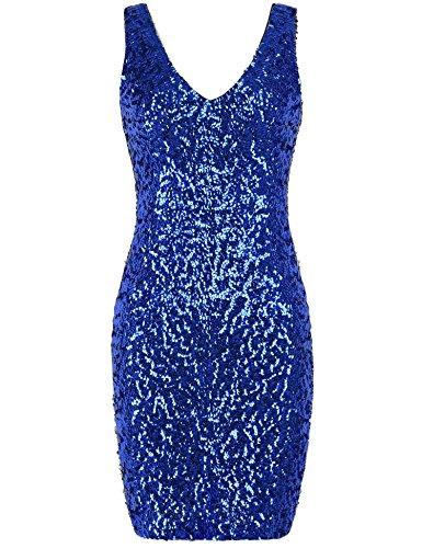 Blue Sequin Dress - 1