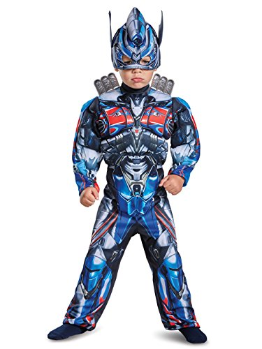 Disguise Optimus Prime Movie Toddler Muscle Costume, Blue, Small -