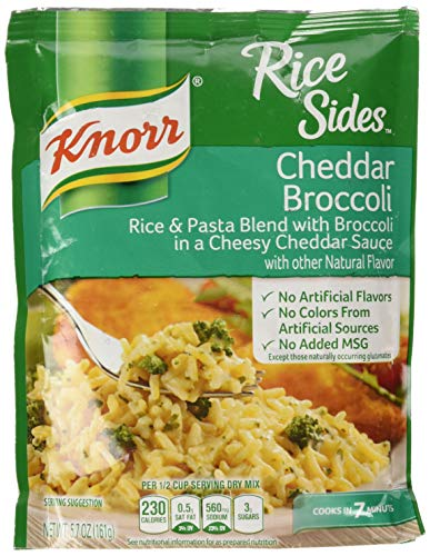 - Knorr Rice Side Dish, Cheddar Broccoli, 5.7 Ounce - Pack of 4