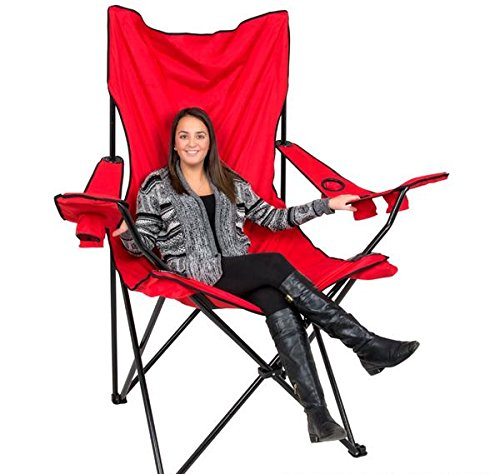 amazon com 5 5 foot giant foldable tailgate chair case of 1 rh amazon com Outside Fold Out Chair Fold Out Sleeper Chair