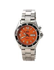 Orient Men's FEM65001MW Orange Mako Stainless Steel Automatic Dive Watch by Orient