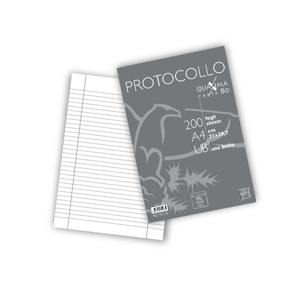 Pigna 0215621UB Protocollo in Risma 2 Confezioni da 200 Fogli