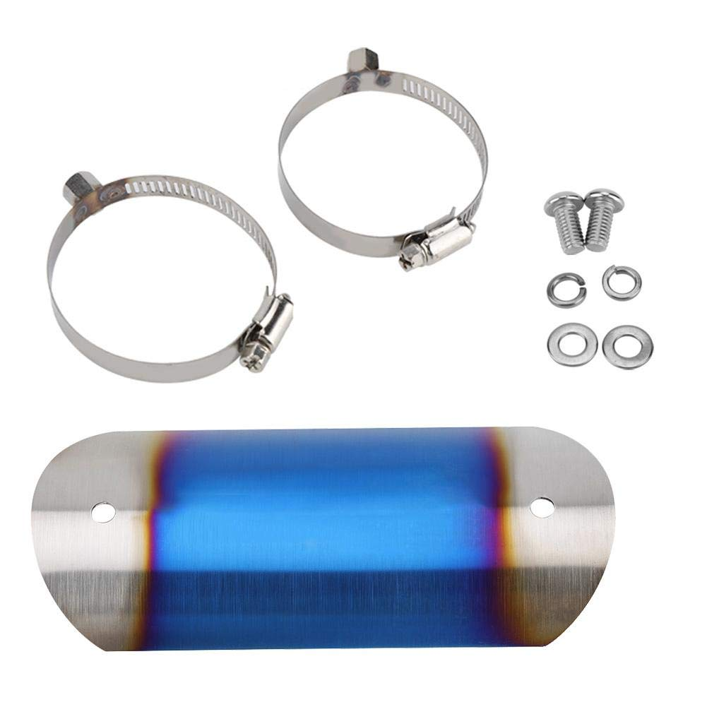 KIMISS Cubierta protectora del tubo del tubo de escape de la motocicleta(SC titanio)