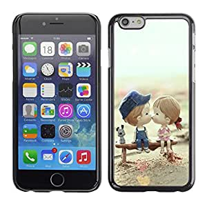 SHIMIN CAO- Dise?o Caso duro de la cubierta Shell protector FOR Apple iPhone 6 6S 4.7- Love romantic Heart