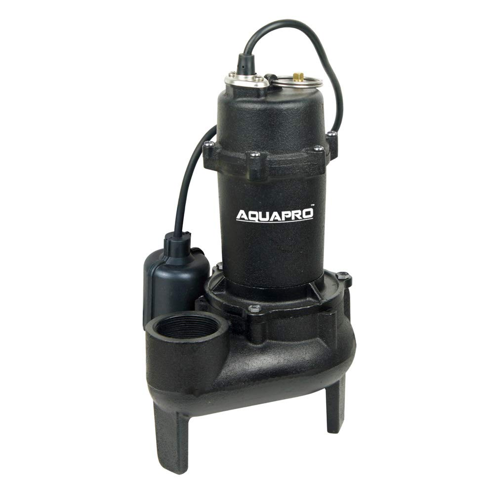 AQUAPRO 1/2 HP Cast Iron Sewage Pump with Tethered Float Switch by AQUAPRO (Image #1)