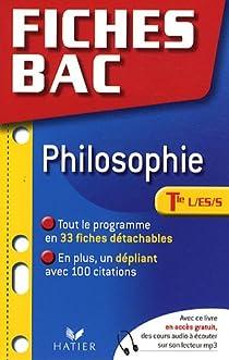 Philosophie Tle L/ES/S par Durozoi
