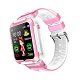 Cheap Kids Phone Smartwatch, Real-time GPS Tracker & Parent Monitor, Sleep Monitor Pedometer, Support IOS & Android (Pink)