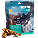 5-inch BRAIDED Bully Sticks [ 10 Pack ], by SUPER CAN BULLY STICKS, Delicious 100% Natural Dog Treats and Chews. Made only from free range grass fed premium beef. Dogs favorite