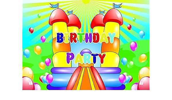 10 Bouncy Castle Temática Invitaciones Fiesta Cumpleaños ...