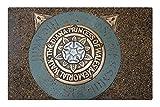 Tree26 Indoor Floor Rug/Mat (23.6 x 15.7 Inch) - Princess Lid Brass London Wales Manhole Covers