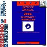 jeep wrangler service manual - bishko automotive literature 1993 Jeep Cherokee Wrangler Shop Service Repair Manual CD Engine Electrical