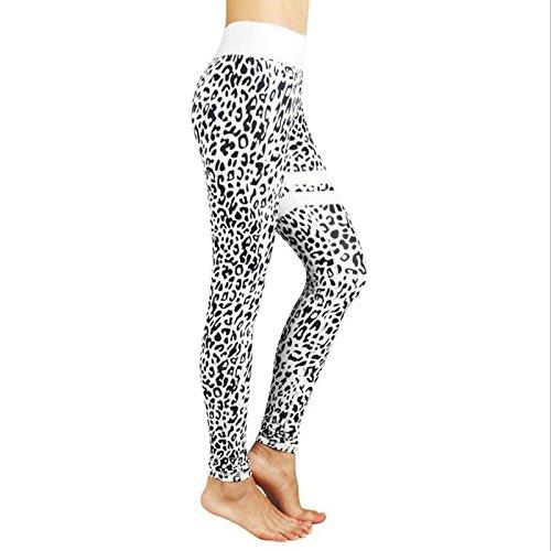Xuanytp Yogahosen Sport-Gamaschen-Weiße Dünne Gamaschen-Trainings-Kleidung Der Frauen Hohe Elastizität