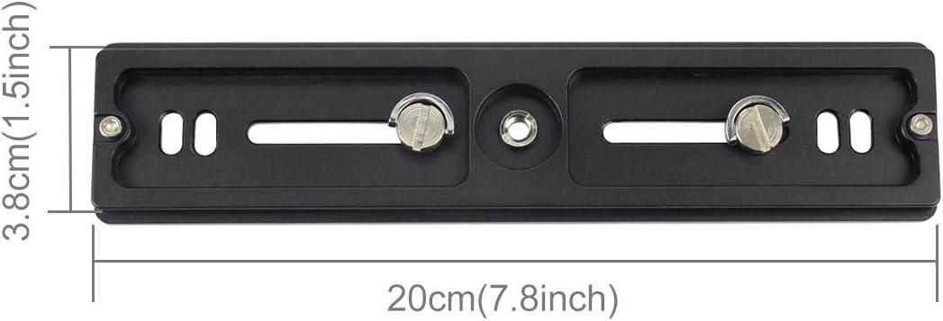200mm Length PU-200 Aluminum-Magnesium Alloy Quick Release Plate QR Clamp for Benro B3 J2 //J3 Tripod Ball Head