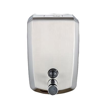 Dispensador de jabón Bomba de ducha montada en la pared del acero inoxidable, champú y