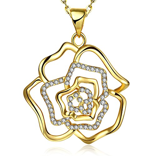 [Fashion Quality Diamond Accent Pendant Inlay Crystal Necklaces-Guillermo B. Randle] (Homemade Flower Fairy Costume)
