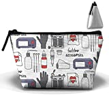 Tattoo Accessories Travel Bag Makeup Bag Storage Toiletries Cords And Chargers Zipper Pouch Bag