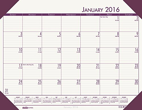 House of Doolittle 2016 Monthly Desk Pad Calendar, EcoTones, Cream Paper, 22 x 17 Inches (HOD12441-16) by House of Doolittle (Ecotones Calendar Pad Monthly Desk)