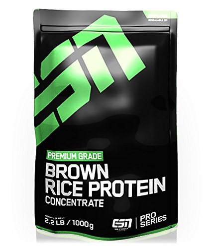 ESN Brown Rice Protein Concentrate, Pro Series, Cinnamon Roll, 1er Pack (1 x 1000g Beutel)
