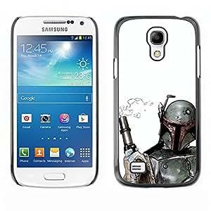 A-type Arte & diseño plástico duro Fundas Cover Cubre Hard Case Cover para Samsung Galaxy S4 Mini i9190 (Boba Fett & Gun)