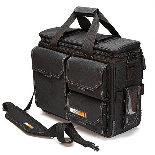 """ToughBuilt TB-EL-1-L2 - Quick Access Laptop Bag + Shoulder Strap - Large -Fits 13""""-17"""" Laptops, Compatible with ClipTech Pouches, Rugged HardBody Construction"""