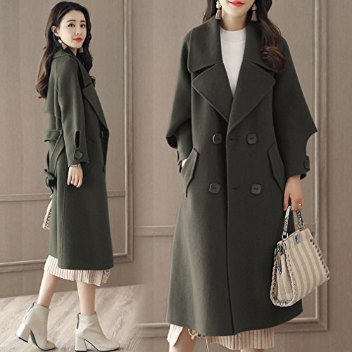 ArmyGreen Section and Winter Thin in It Long Coat WYF Coat a of Autumn Women Loose Tw6Iqzq