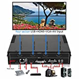 Mophorn 4 Channel HDMI VGA AV Video Wall Controller 2x2 Video Wall Processor with Four Picture Multiviewer TV Wall Controller for Perfect Visual Experience