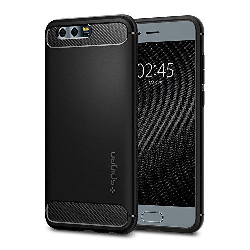 Price comparison product image Spigen Rugged Armor Honor 9 Case with Resilient Shock Absorption and Carbon Fiber Design for Honor 9 - Black