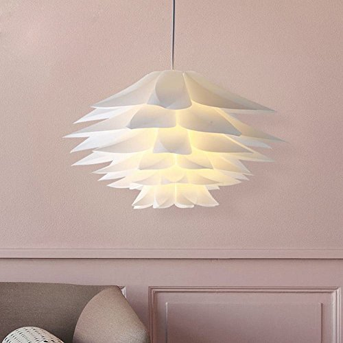 DEN Mo Jue modern Nordic minimalist creative living room dining room bedroom Bay window lamp art lotus lily white chandeliers,Next section,50cm by DEN