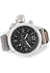 Invicta 18574 Men's Russian Diver Quartz Chronograph Leather Strap Watch