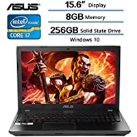 2018 ASUS Flagship 15.6 Inch Gaming Laptop, 15.6 FHD Glossy Display, Intel Core i7-7700HQ Processor (up to 3.8GHz), 8GB Memory, 256GB Solid State Drive, NVIDIA GeForce GTX 1050 2GB GDDR5, Windows 10