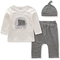 Baby Clothes Boys and Girls Clothing Set Long Sleeve Tops+Printing Pants+Hat 3PCS Outfit Suit