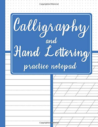 Calligraphy And Hand Lettering Practice Notepad  Modern Calligraphy Slant Angle Lined Guide Alphabet Practice And Dot Grid Paper Practice Sheets For ... Cover  Slanted Calligraphy Paper Band 17